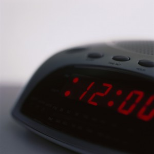 Alarm Clock Showing Twelve O'Clock